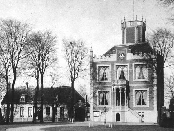 Old picture of the Aardenburg town hall